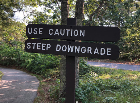 Use Caution. Steep Downgrade