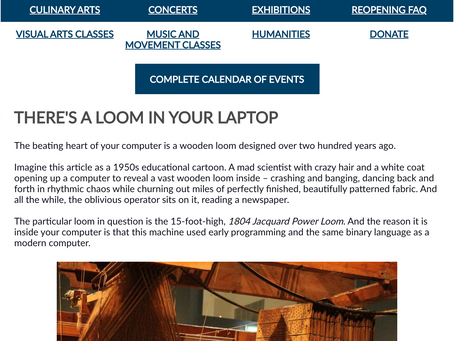 THE WEEKLY MUSE - A Loom in Your Laptop