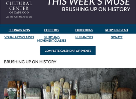 THE WEEKLY MUSE - Brushing Up On History