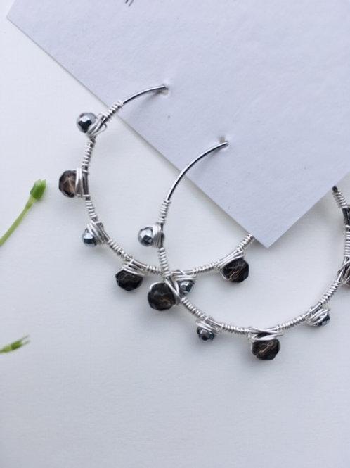 orecchini cerchio argento