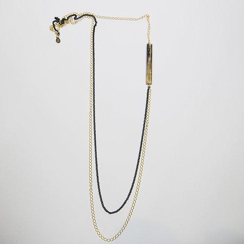 Collana legno oro
