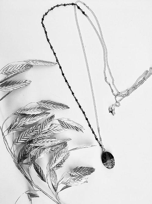 Collana agata nera e bianca