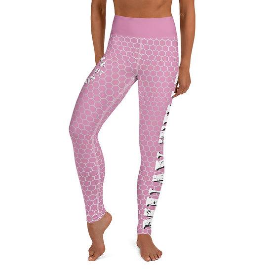 Yoga Light Pink American Revolution Honeycomb Pattern Leggings