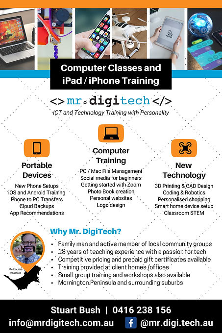 Mr DigiTech Computer Classes and iPad / iPhone Training