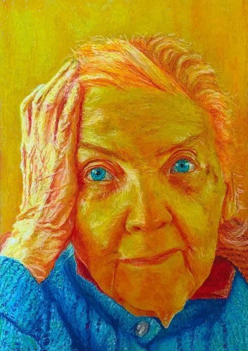 Nonna Gigia, 30x21 pastelli a olio