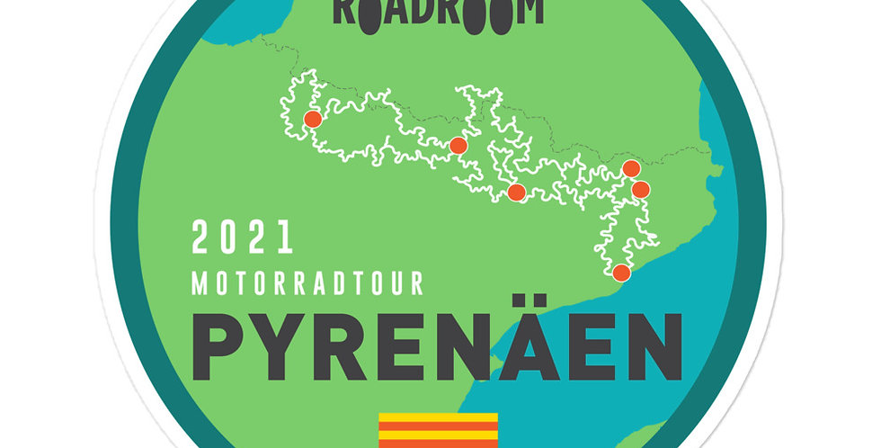 Stickers // Pyrenäen Motorradtour August-September 2021