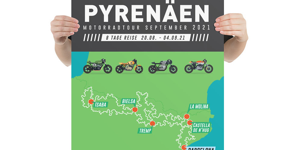 Pyrenäen Motorradtour August-September 2021
