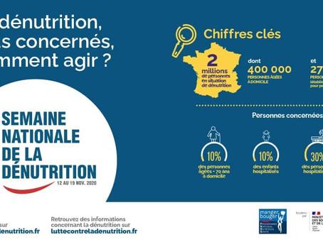 Je participe à la semaine contre la dénutrition: agissons ensemble