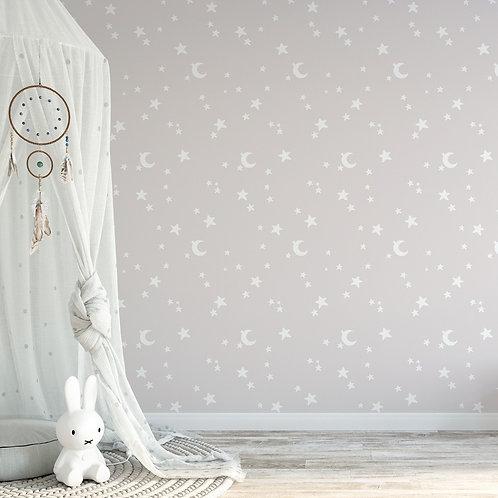 Papel pintado Estrellas rosas