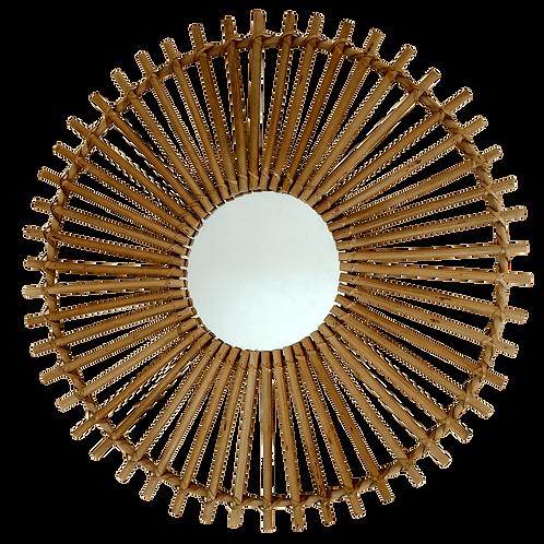 Espejo bambú Rueda