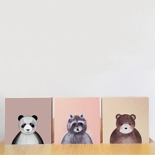 SET 3 bloques de madera