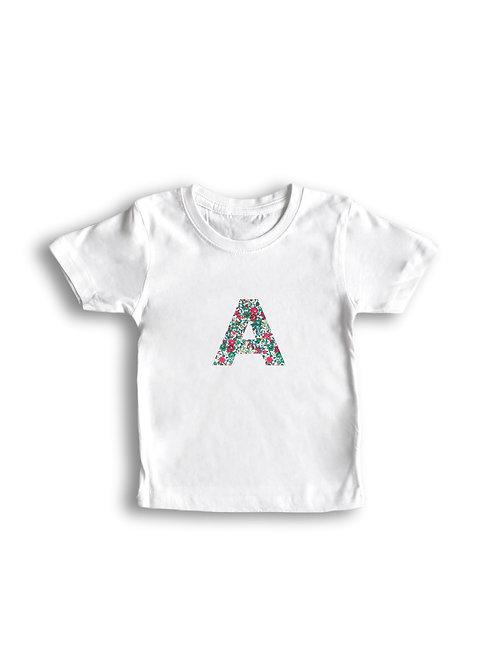 Camiseta letra personalizada