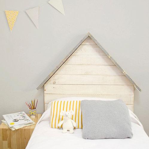 Cabecero casita de madera