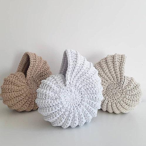 Concha de crochet redonda