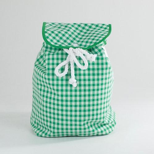 Mochila tapa Vichy verde