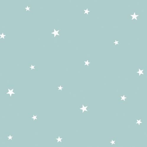 Papel Estrellas agua turquesa