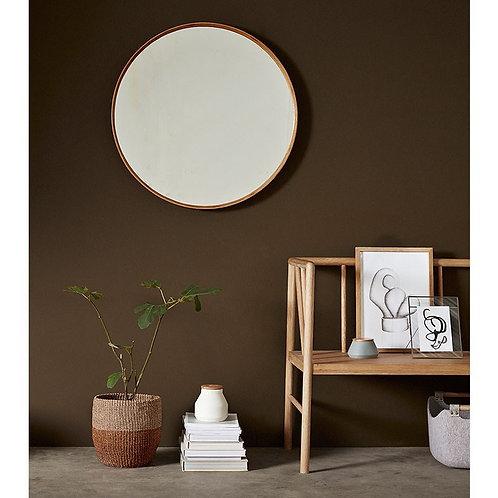 Espejo redondo bambú