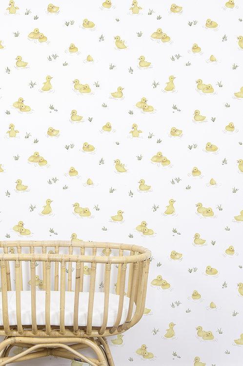 Papel pintado Patos amarillos