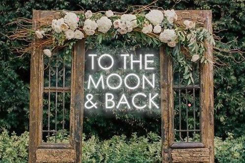 "Neón ""To the moon & back"""