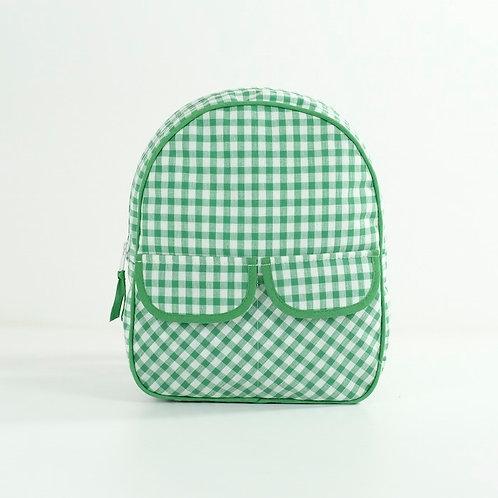 Mochila guardería Vichy verde