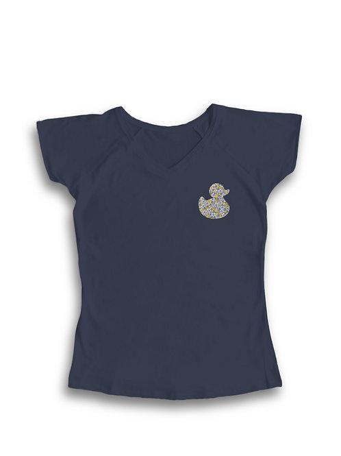 Camiseta mujer pato azul