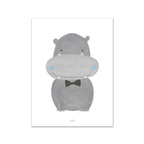 Lámina Alfredo hipopótamo