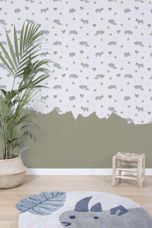 Papel pintado Rinocerontes