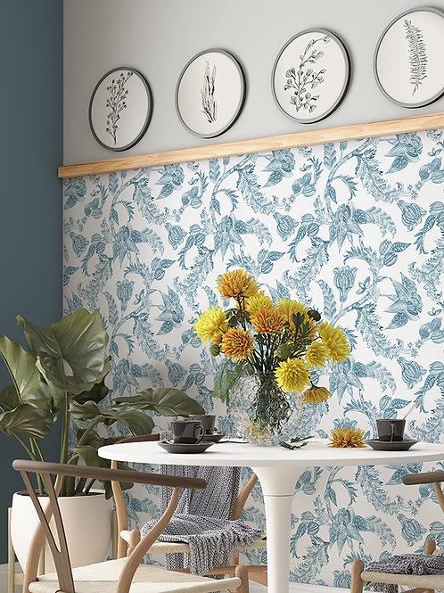 Papel pared Royal Batik Azul Egeo