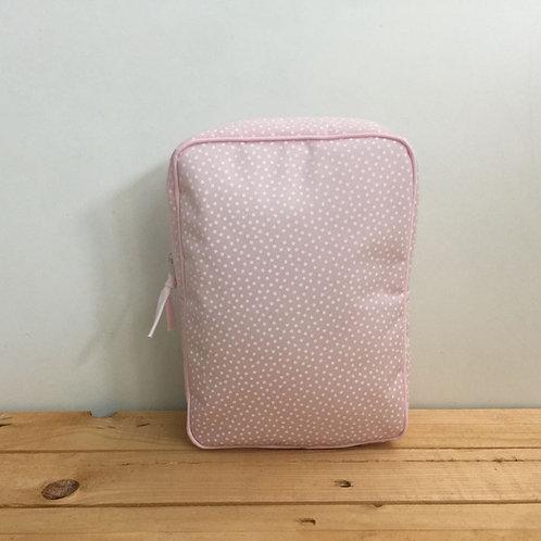 Estuche pañal Topos rosa