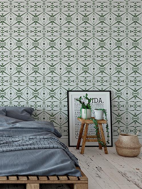 Papel pared Kaleidoscope Verde