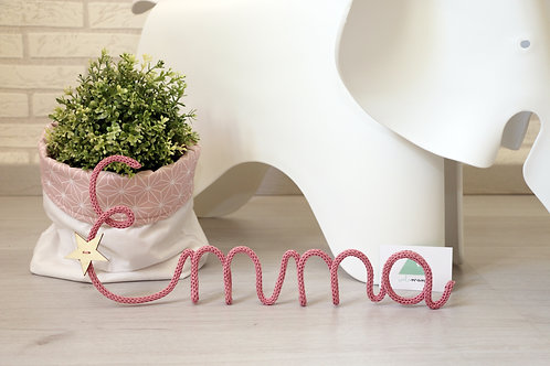 Nombre tejido clásico - Hasta 5 letras