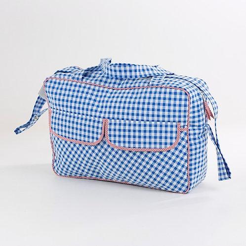 Maleta caja Vichy azul