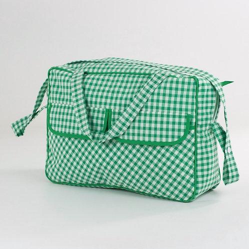 Maleta caja Vichy verde