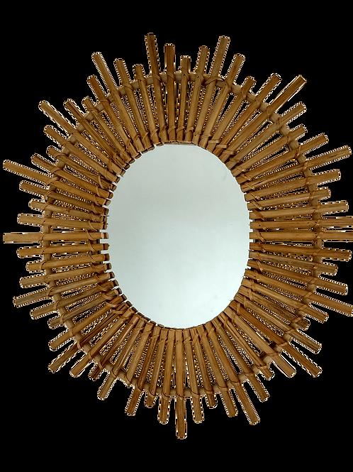 Espejo bambú Ovalado