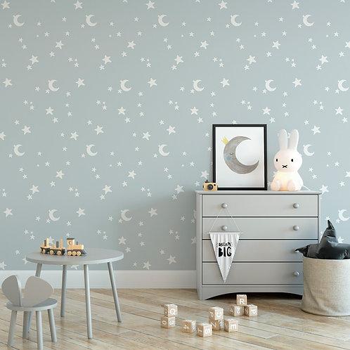 Papel pintado Estrellas azules