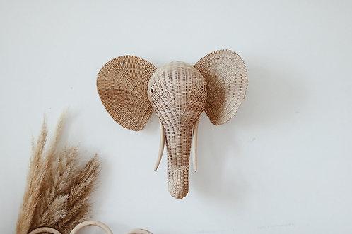 Cabeza elefante ratán Bambo