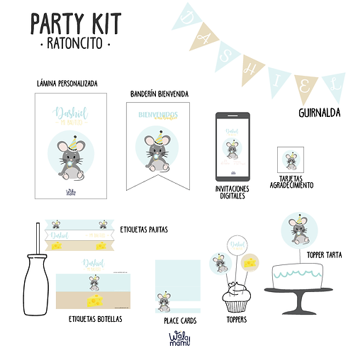 Party kit ratoncito