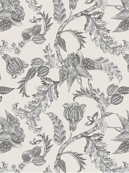 Papel pared Royal Batik Antracita - Gris