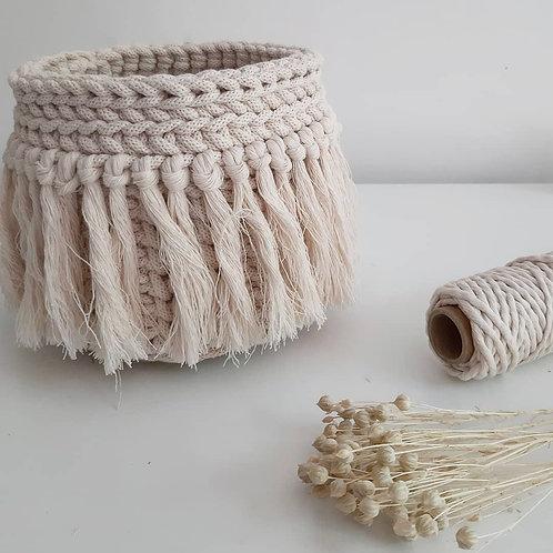 Cesta boho crochet pequeño
