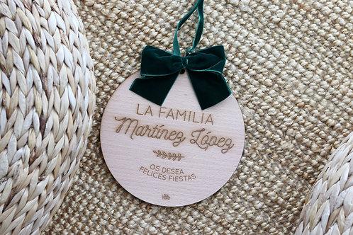 Placa navidad personalizada para puerta