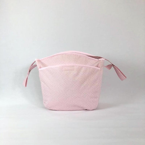 Bolsa silla Topos rosa