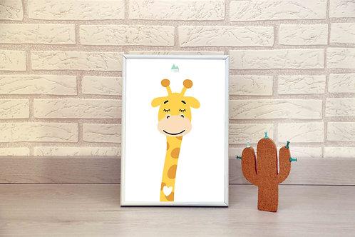 Lámina jirafa