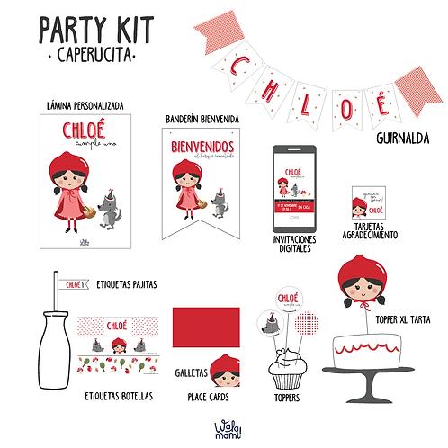Party kit Caperucita