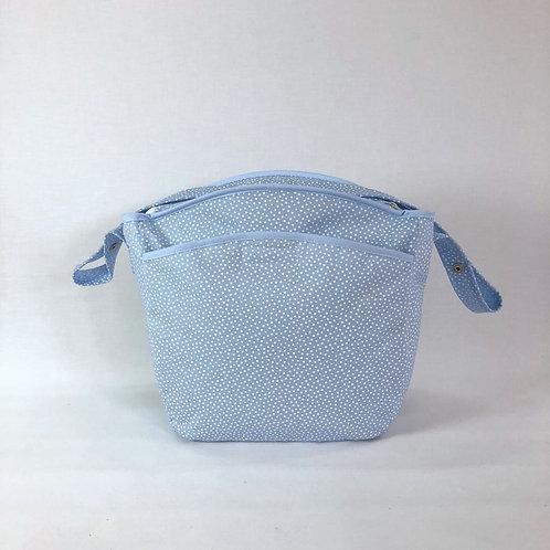 Bolsa silla Topos azul