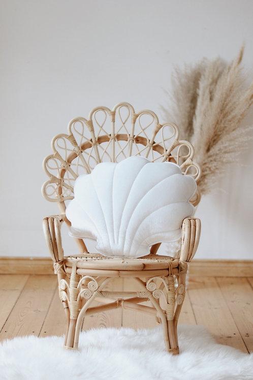 Cojín Concha White pearl