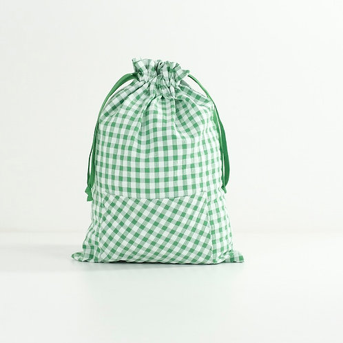 Bolsa merienda Vichy verde
