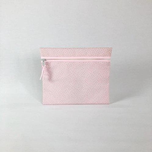 Neceser plano Topos rosa