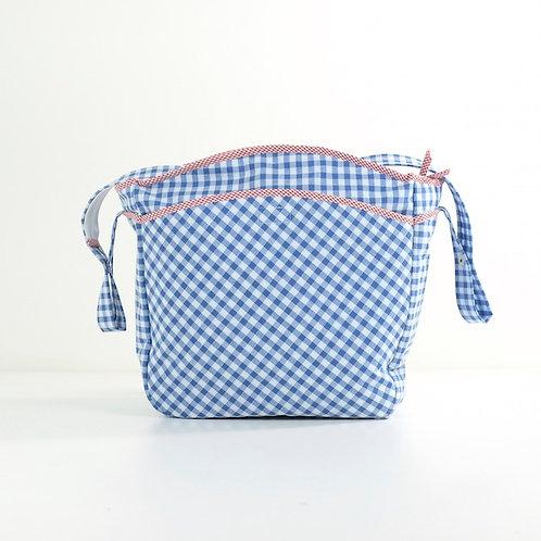 Bolsa silla Vichy azul