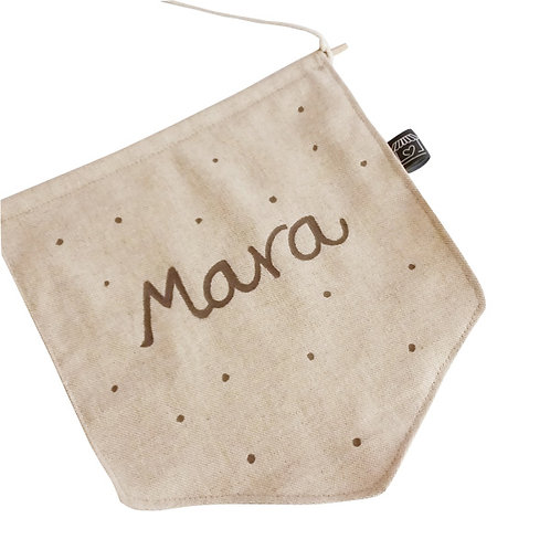 Banderola de tela personalizable