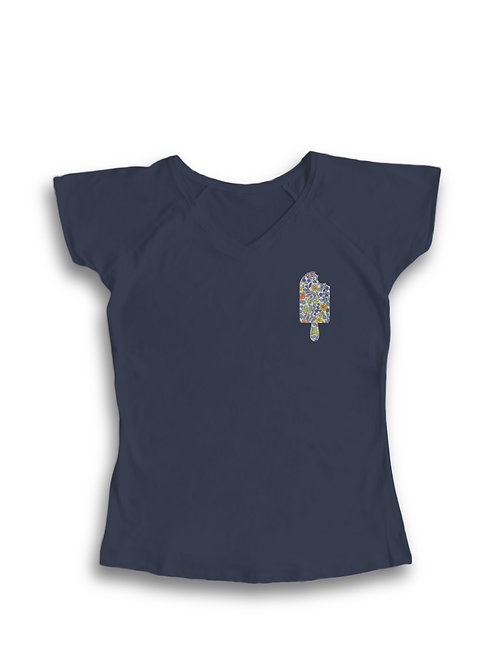 Camiseta mujer helado azul